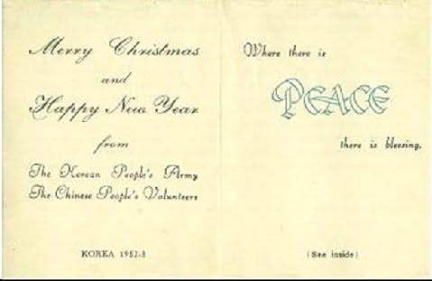 Christmas Greetings from ex-enemies, winter of 1952, 62 years later