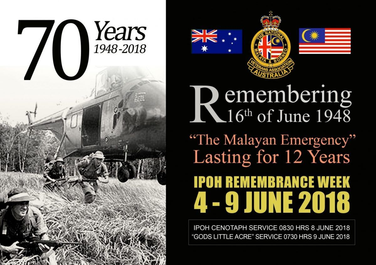 Remembering the Malayan Emergency - 70th Anniversary - Royal